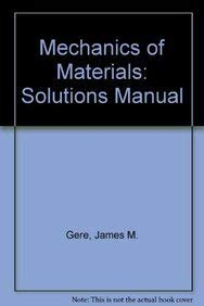 9780748740093: Mechanics of Materials 4th Ed: Solutions Manual