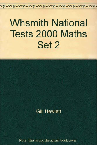 Whsmith - National Tests 2000 Maths Set 2 13-14 Years Key Stage 3 (0748752250) by Hewlett, Gill