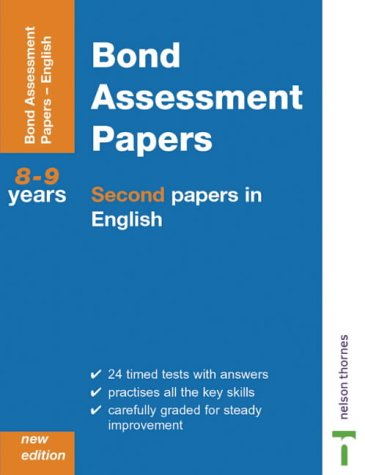 9780748761821: Bond Assessment Papers: Second Papers In English Years 8-9