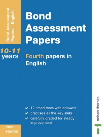 9780748761845: Bond Assessment Papers: Fourth Papers in English Years 10-11