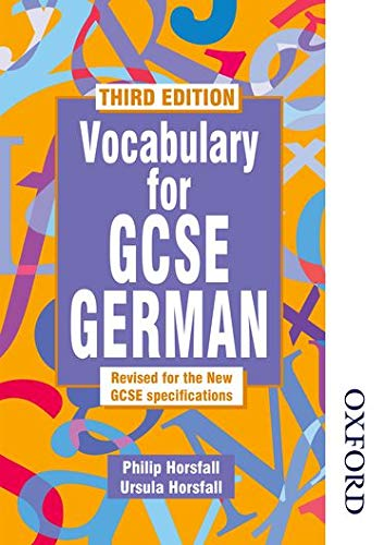 9780748762903: Vocabulary for GCSE German - 3rd Edition