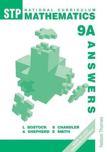 9780748764969: STP National Curriculum Mathematics 9A - Answer Book (Bk.9A)