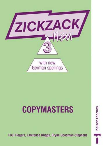 9780748767137: Zickzack Neu 3 New German Spelling - Copymasters: 3