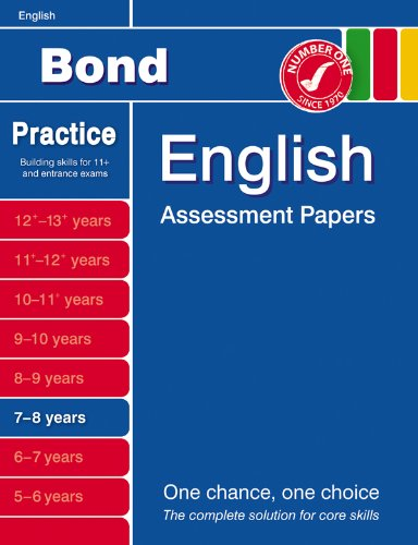 9780748781058: Bond First Papers in English 7-8 years NE (Bond Assessment Papers)