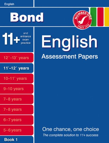9780748784837: Bond English Assessment papers: 11-12+ Years