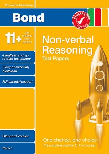 9780748784943: Bond 11+ Test Papers Non-Verbal Reasoning Standard Pack 1