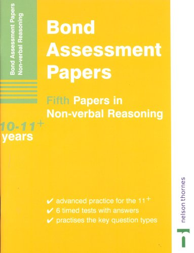 9780748792672: Bond Assessment Papers: Fifth Papers in Non-verbal Reasoning 10-11+ Years