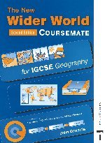 9780748794201: The New Wider World: Coursemate for IGCSE Geography