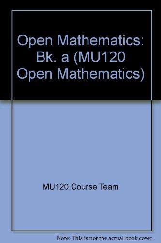 9780749234584: Open Mathematics: Units 1-5 Bk. A: Resource Book (MU120 Open mathematics)