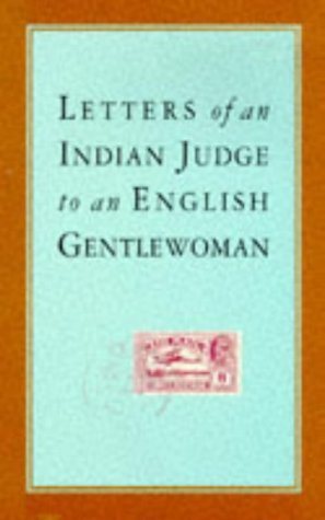 Letters of an Indian Judge to an: Anonymous