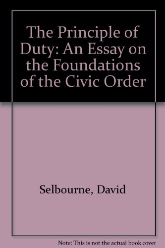 9780749319007: The Principle of Duty