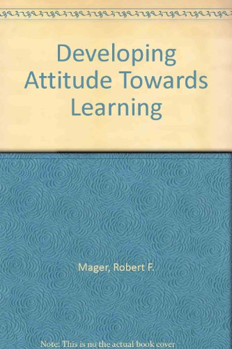 9780749402419: Developing Attitude Towards Learning