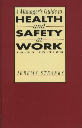 9780749413194: A Manager's Guide to Health and Safety at Work