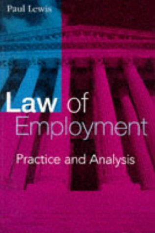 9780749415419: THE LAW OF EMPLOYMENT