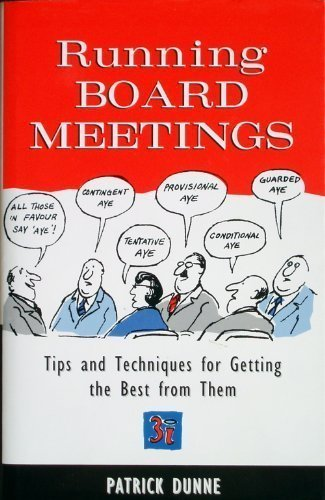 Running Board Meetings (9780749424626) by Patrick Dunne
