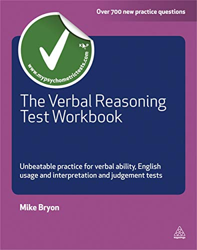 9780749463380: The Verbal Reasoning Test Workbook: Unbeatable Practice for Verbal Ability English Usage and Interpretation and Judgement Tests (Testing Series)