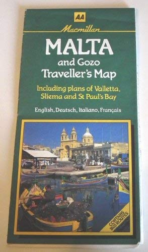 9780749500627: Malta and Gozo Traveller's Map (AA Maps)