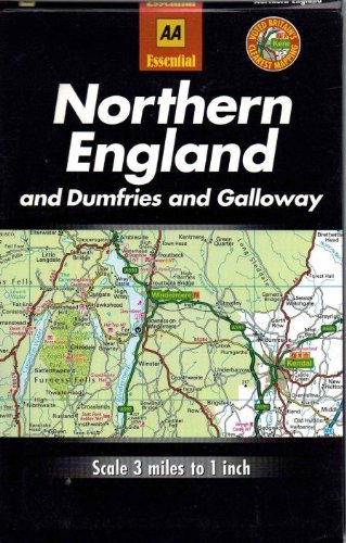 Road Map Britain: Northern England and Dumfries and Galloway (AA Essential British Road Maps) (9780749510367) by Automobile Association