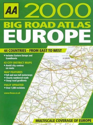 9780749522605: AA Big Road Atlas: Europe (AA Atlases)