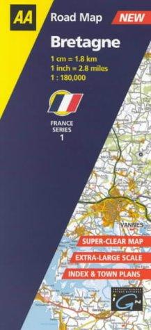 9780749528522 bretagne aa road map france