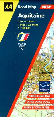 9780749528560: Aquitaine (AA Road Map France) (AA Road Map France Series)