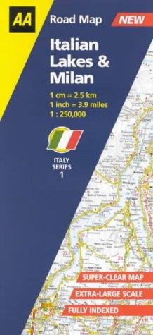 9780749528867: Italian Lakes and Milan (AA Road Map Italy)