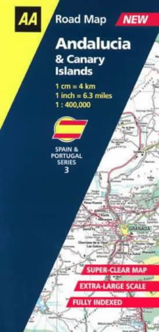 Andalucia and Canary Isles (AA Road Map: Aa Road Maps