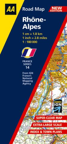 9780749535988: Rhone-Alpes (AA Road Map France Series)