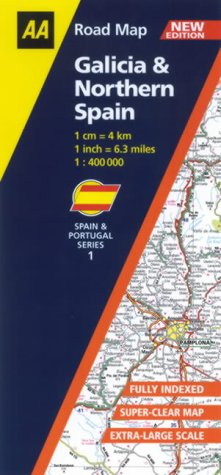 9780749537616: Galicia and Northern Spain (AA Road Map Spain & Portugal)