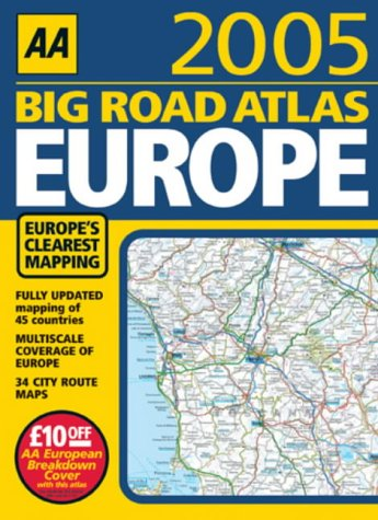 9780749542559: Big Road Atlas Europe 2005
