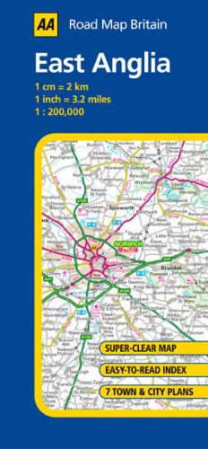 AA Road Map East Anglia