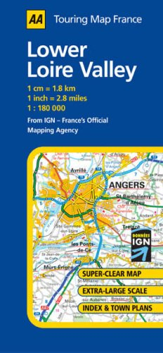 Clear Map Of France.9780749544065 Lower Loire Valley Aa Road Map France Aa Road Map
