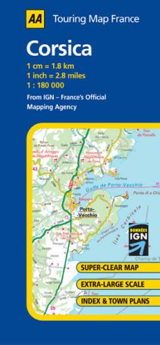 Map Of France And Corsica.9780749544195 Corsica Aa Road Map France Abebooks 0749544198