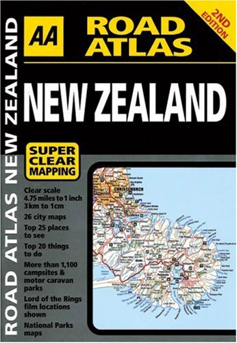 9780749545949: Road atlas new zealand (AA Road Atlas)