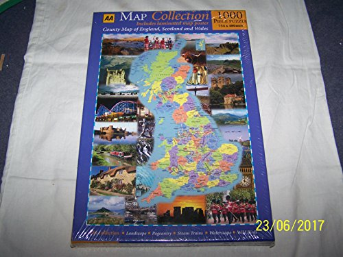 9780749546991: Map Collection: County Map of England, Scotland and Wales (AA Jigsaw Collection)