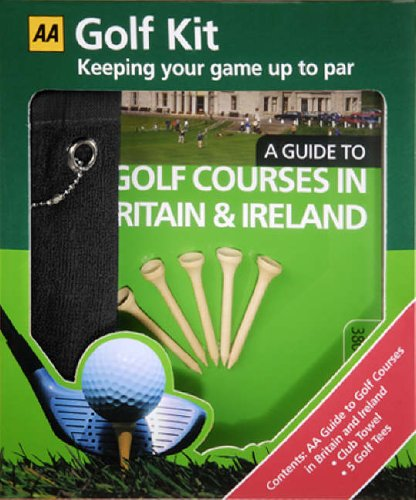 9780749548445: AA Golf Kit: A Guide to Golf Courses in Britain & Ireland, Golf Tees & Club Towel