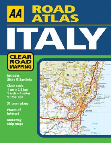 aa road atlas italy aa atlases