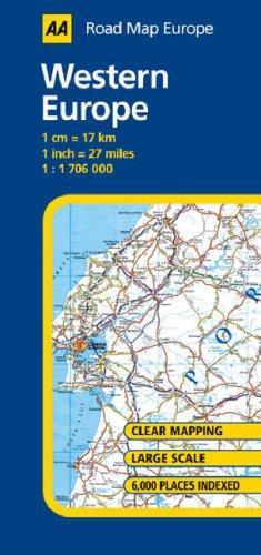 9780749551186: Western Europe (AA Road Map Europe Series)