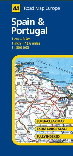 Road Map Of Portugal And Spain.9780749551193 Spain And Portugal Aa Road Map Europe Series