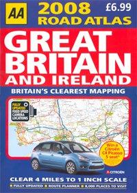 AA 2008 Road Atlas - Great Britain