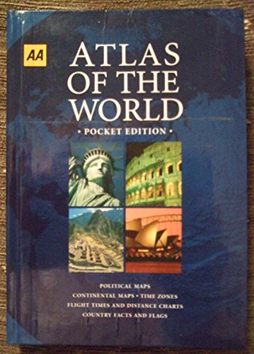9780749558161: AA Atlas of the World Pocket Edition - Political Maps, Continental Maps, Time Zo