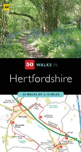 9780749560546: 50 Walks in Hertfordshire