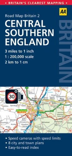 9780749560652: AA Road Map Britain: Central Southern England (AA Road Map Britain Series)