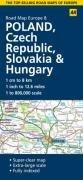 9780749560829: Poland, Czech Republic, Slovakia and Hungary (AA Road Map Europe Series)