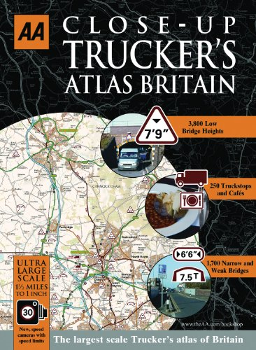 9780749561598: Close Up Trucker's Atlas Britain (AA Atlases and Maps)