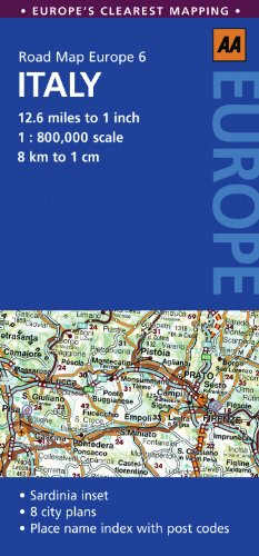 9780749568405: Road Map Italy (AA Road Map Europe)