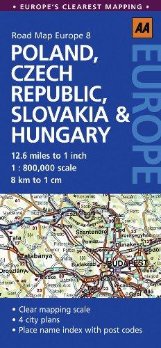 9780749568429: Road Map Poland, Czech Rep & Hungary