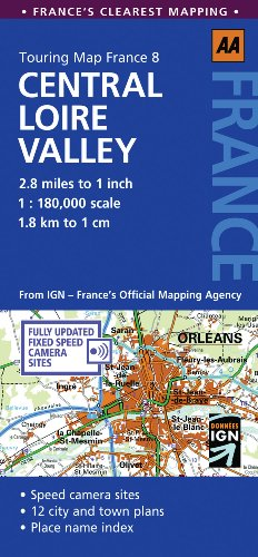 9780749568726: Touring Map Central Loire Valley (Touring Map France)