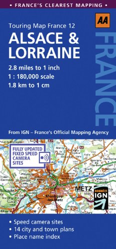 9780749568764: Touring Map Alsace & Lorraine (Ign Touring Map Series)