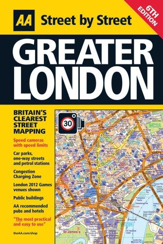 9780749572655: Street Atlas Greater London (flexiback) (AA Street by Street)